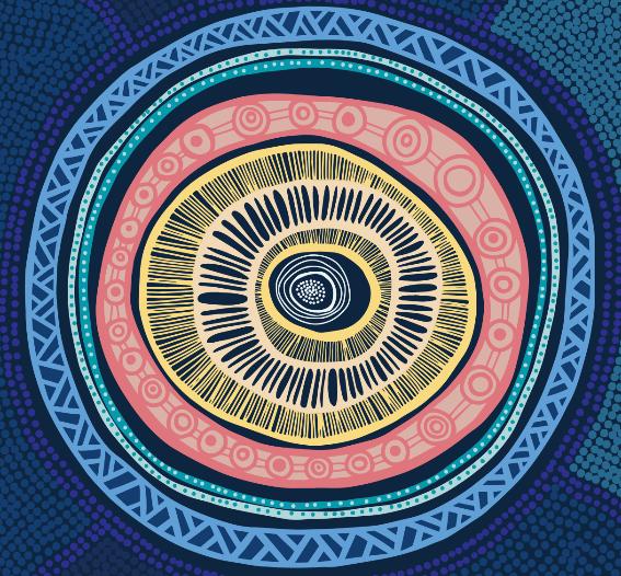 National Scheme's Aboriginal and Torres Strait Islander Health and Cultural Safety Strategy 2020-2025 artwork: developed by artist Keisha Thomason, from Leon Design