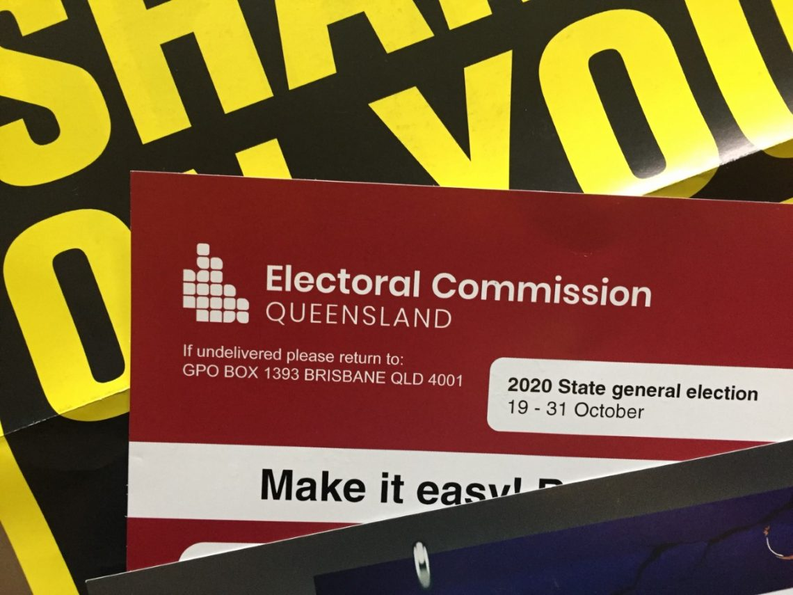 Queenslanders have until Saturday 31 October to vote for their next State Government. Photo: Letitia Del Fabbro