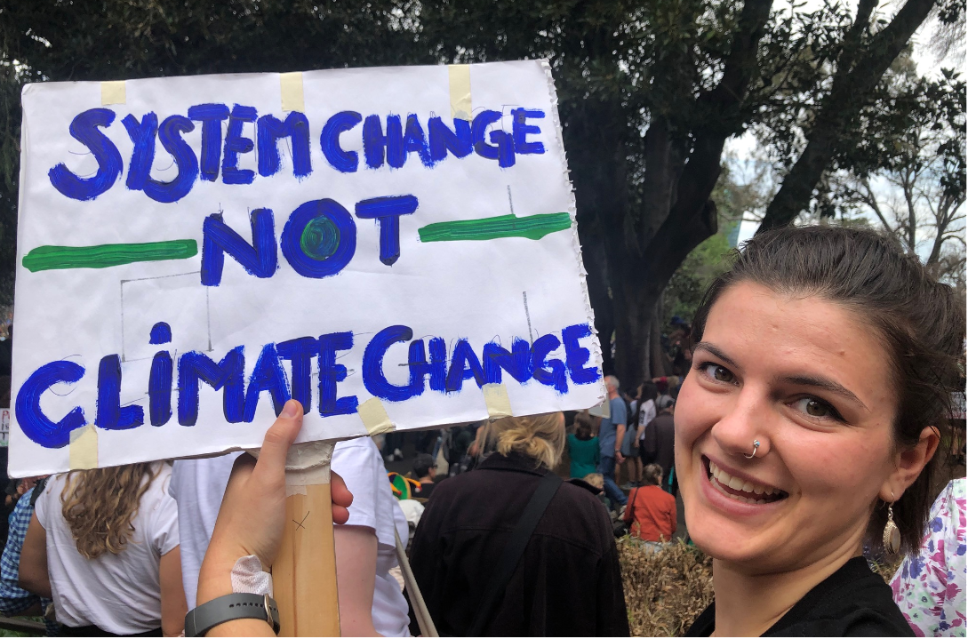 Australia's per capita material footprint is one of the highest in the world.  20 September 2019 Climate Strike in Melbourne: Photo by Marie McInerney