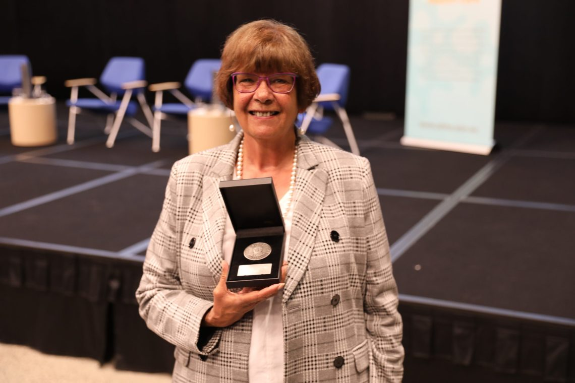 NACCHO CEO Pat Turner was presented with AHHA's Sidney Sax medal in recognition of the sector's acclaimed response to COVID-19. Image credit: NACCHO