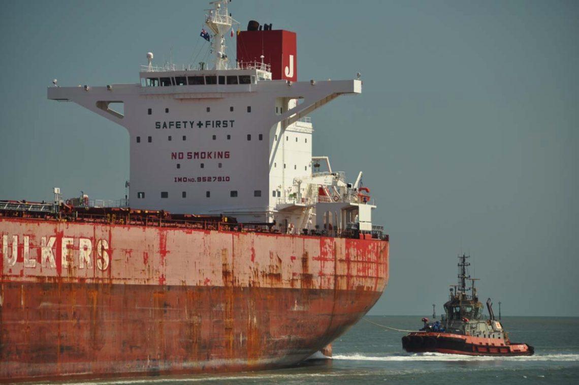 Bulk tanker at Port Hedland, Western Australia. Photo: Mitchell Ward