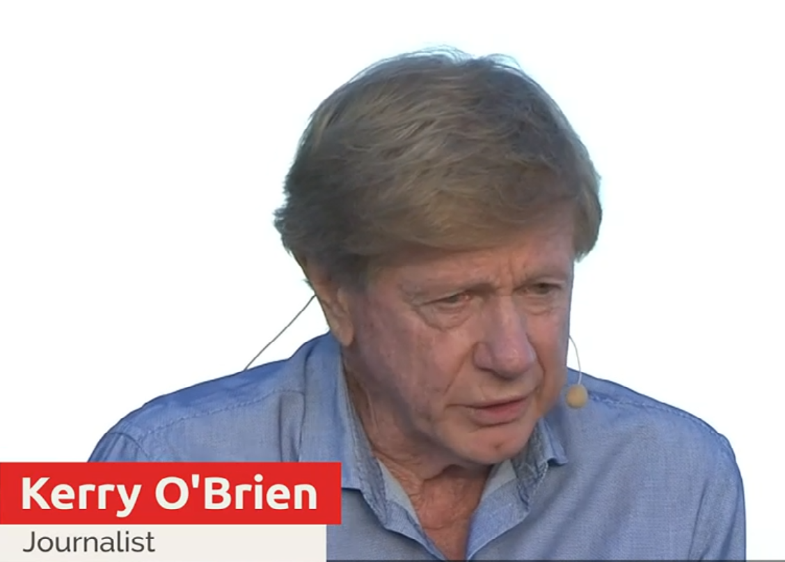 Journalist Kerry O'Brien has joined others in rejecting or returning Australia Day awards in protest at the honouring this year of Margaret Court. Screenshot from NITV broadcast.
