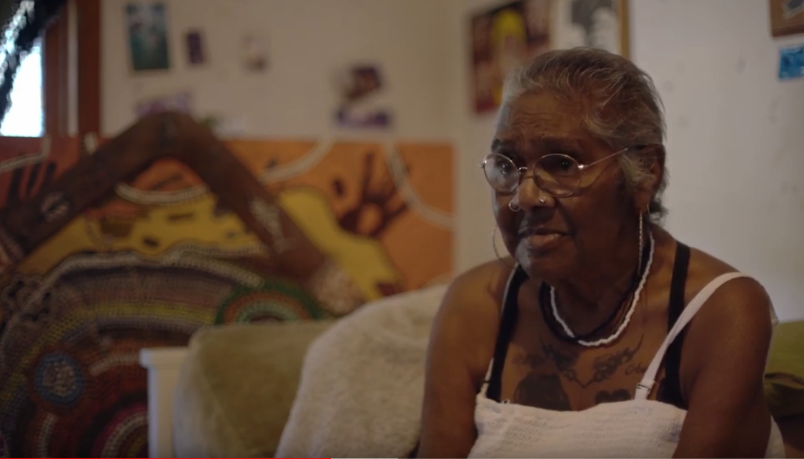 Stolen Generations survivor Aunty Julie Black, a 64-year-old Barkindji woman, was taken from her mother shortly after birth: screenshot from video