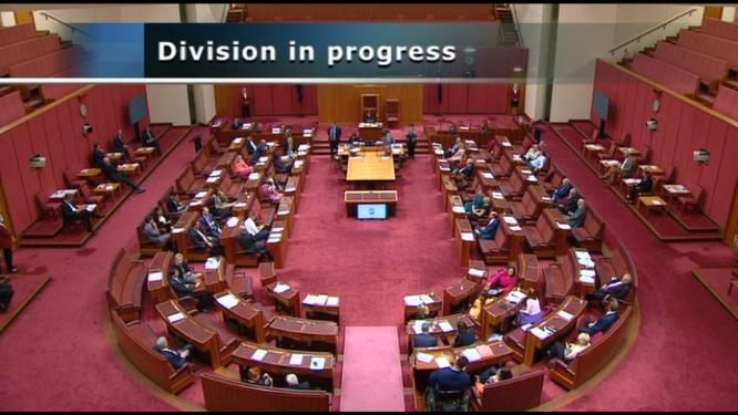Senate vote on the proposed merger