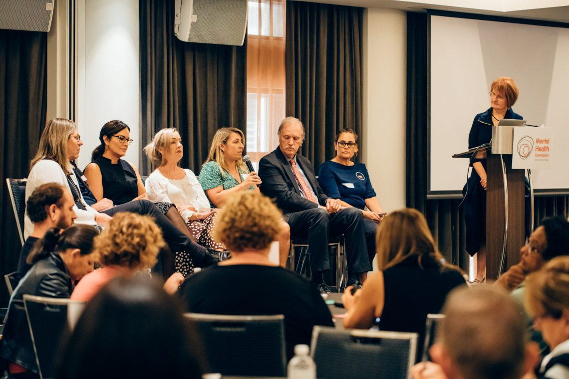 NSW Mental Health Commissioner Catherine Lourey with the panel of one of the Commission's  Health Literacy meetings: Supplied