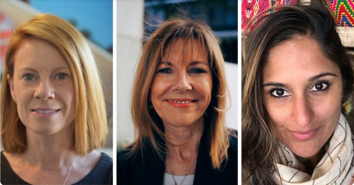 Webinar speakers from L: Jennifer Tierney, MSF Australia Executive Director;  Dr Deborah Bateson, Medical Director of Family Planning NSW; Dr Roopan Gill, MSF Medical Advisor for Women's Health