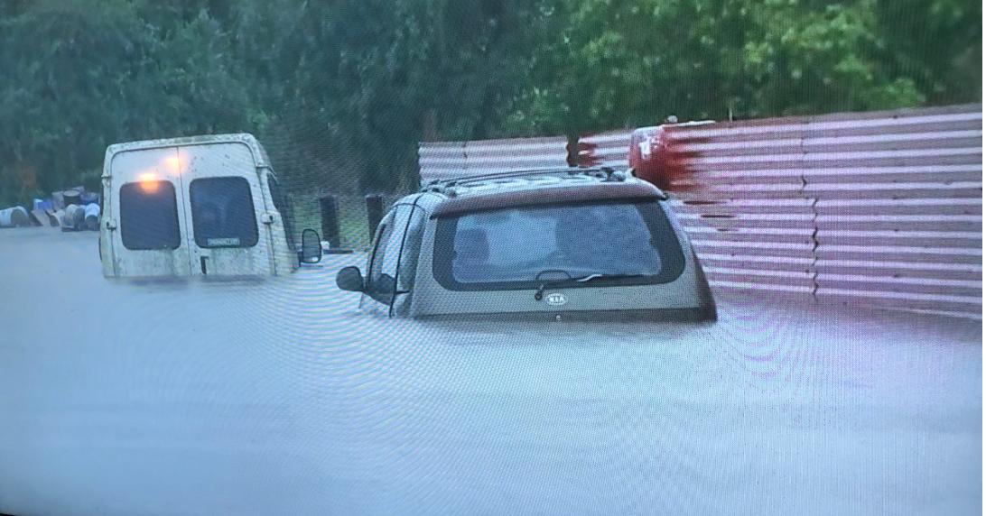 New South Wales flood devastation: screenshot from ABC TV news: Melissa Sweet
