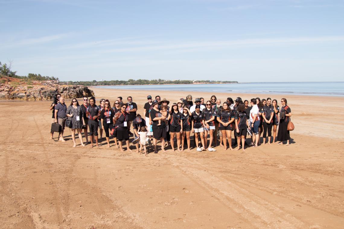 #BackToTheFire participants attended a Saltwater Ceremony at Casuarina Beach. Photo by David Nardoo