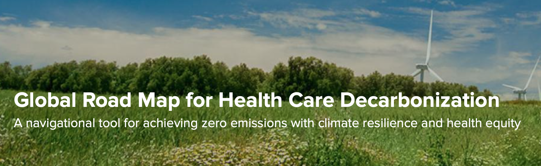 Towards zero emissions: a roadmap for the health sector
