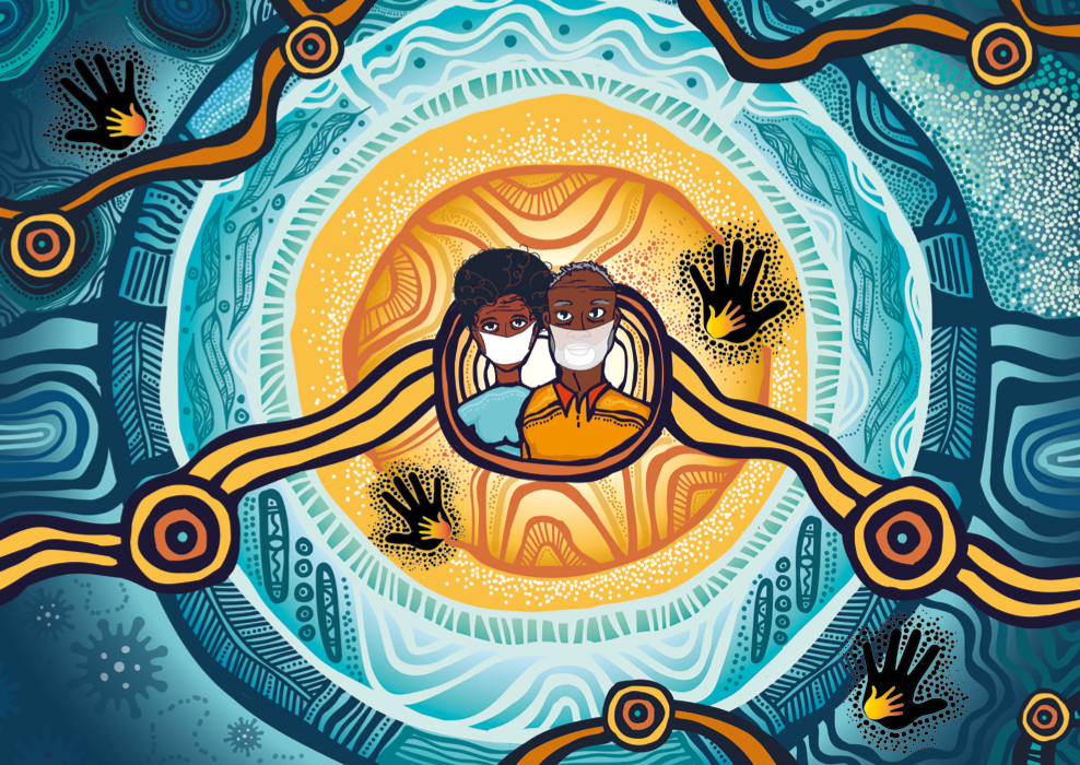 Cover image from the report: Impacts of COVID-19 on Stolen Generations survivors
