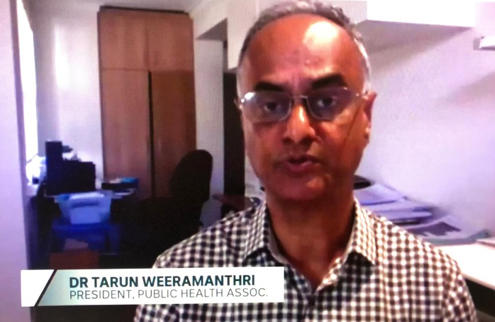 PHAA President Dr Tarun Weeramanthri on ABC TV's 730