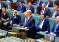 The Treasurer pitches his Budget. Image via ABC TV