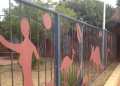 Photo of front fence at the Geraldton Regional Aboriginal Medical Centre in Western Australia, which hosted a prison health conference in 2015