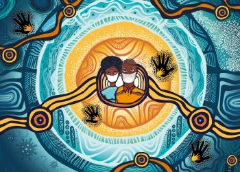 Cover illustration from The Healing Foundation report, Impacts of COVID-19 on Stolen Generations Survivors.
