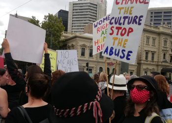 The March4Justice rally in Adelaide was one of many across the country, with women saying 'Enough is enough' and calling for a new approach to women's issues from the Federal Government.