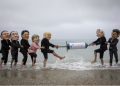 Campaigners for The People's Vaccine Alliance pose as G7 political leaders: Joe Biden (US), Mario Draghi (Italy), Boris Johnson (UK), Emmanuel Macron (France), Angela Merkel (Germany), Justin Trudeau (Canada), Yoshihide Suga (Japan). Photo by Andrew Aitchison/In Pictures via Getty Images, supplied by Oxfam.