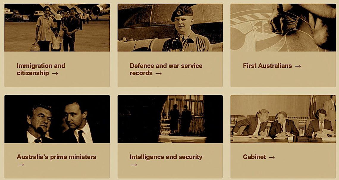 Most popular categories displayed by the National Archives on 16 June, 2021