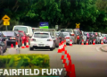Residents of Fairfield in Sydney's south-west line up for COVID-19 testing. Screenshot from ABC TV News