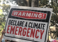 Sign from a climate action protest rally, Melbourne 2019.