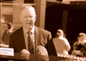 Federal Opposition leader Anthony Albanese: supporting inequitable policies. Still from ABC TV