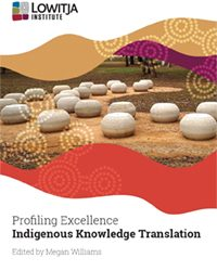 Detail from cover of new Lowitja Institute report, featuring Forbes Wiradjuri Dreaming Centre. Photo shared with respect by Associate Professor Megan Williams.