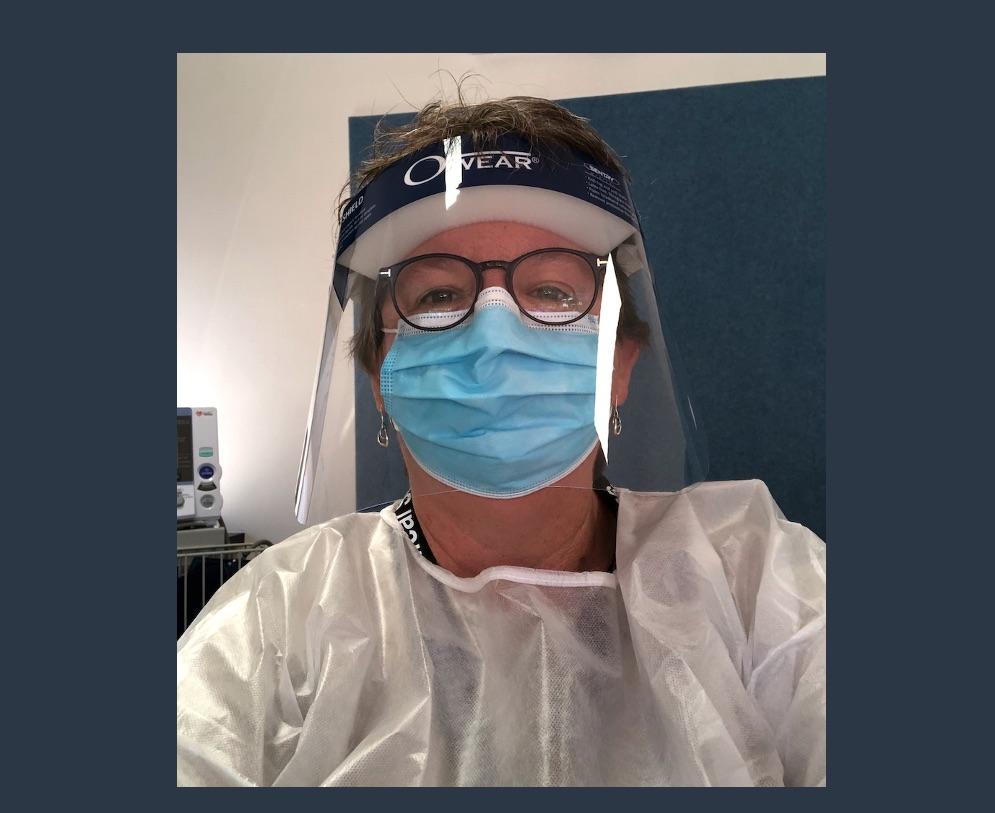 Professor Rhonda Wilson, contributing to the pandemic response at Walgett recently