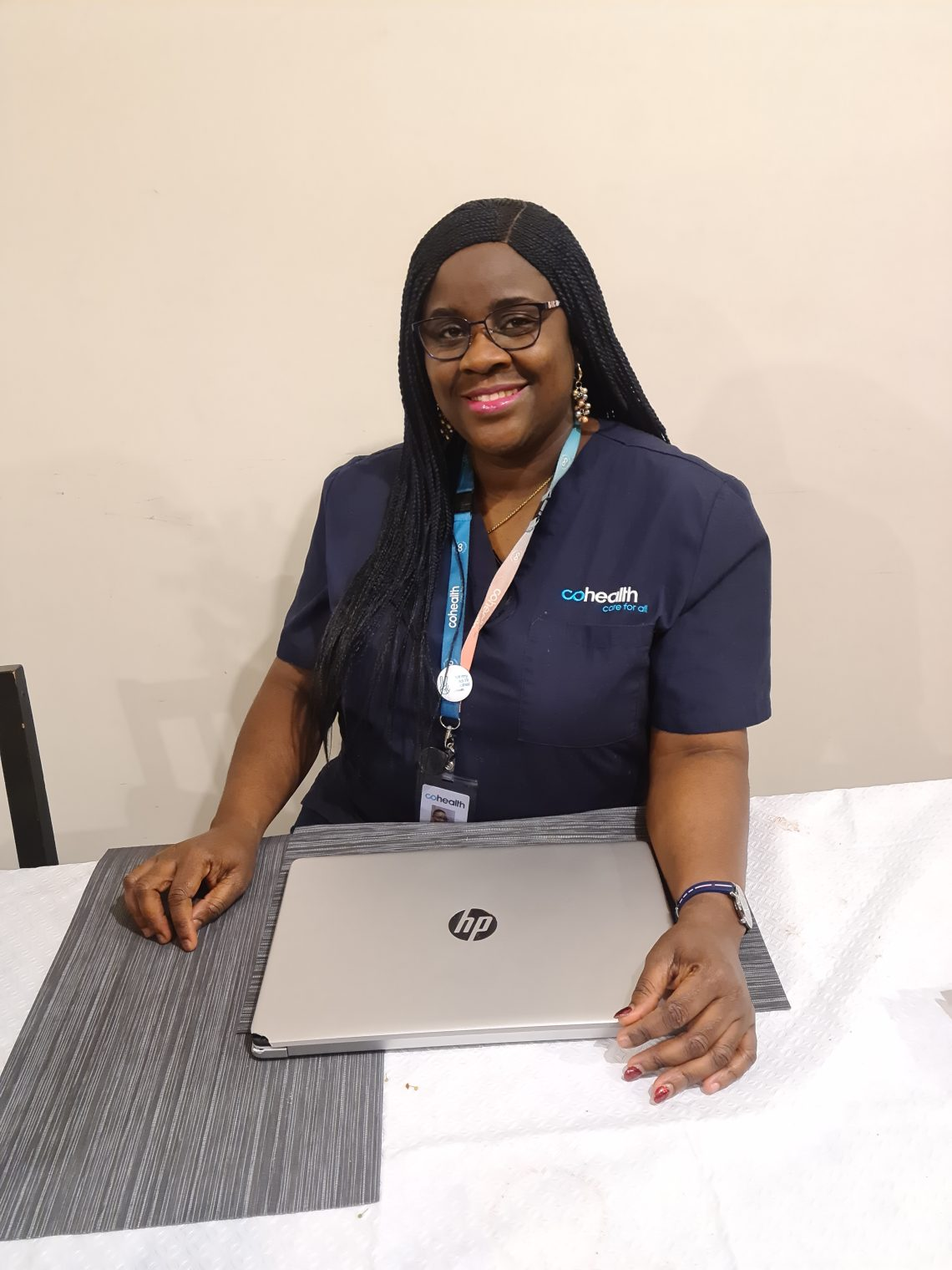 Shola Adedoyin works as a senior community health nurse for cohealth in Melbourne's public housing towers, which were locked down during the city's 2020 second wave of COVID-19. Source: Supplied