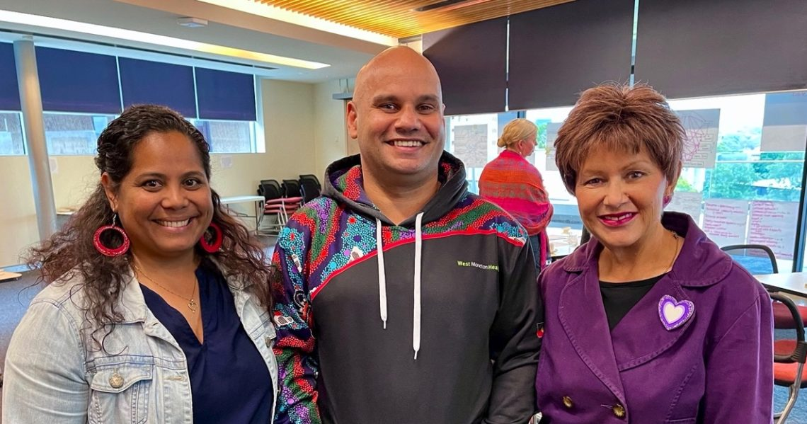 Deanne Minnicon and Maurice Woodley from the West Moreton Hospital and Health Service, and Professor Bronwyn Fredericks. Photo supplied by authors