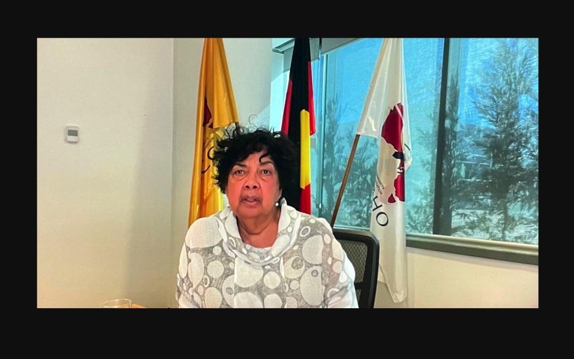 Dr Dawn Casey presenting online to #AustPH2021