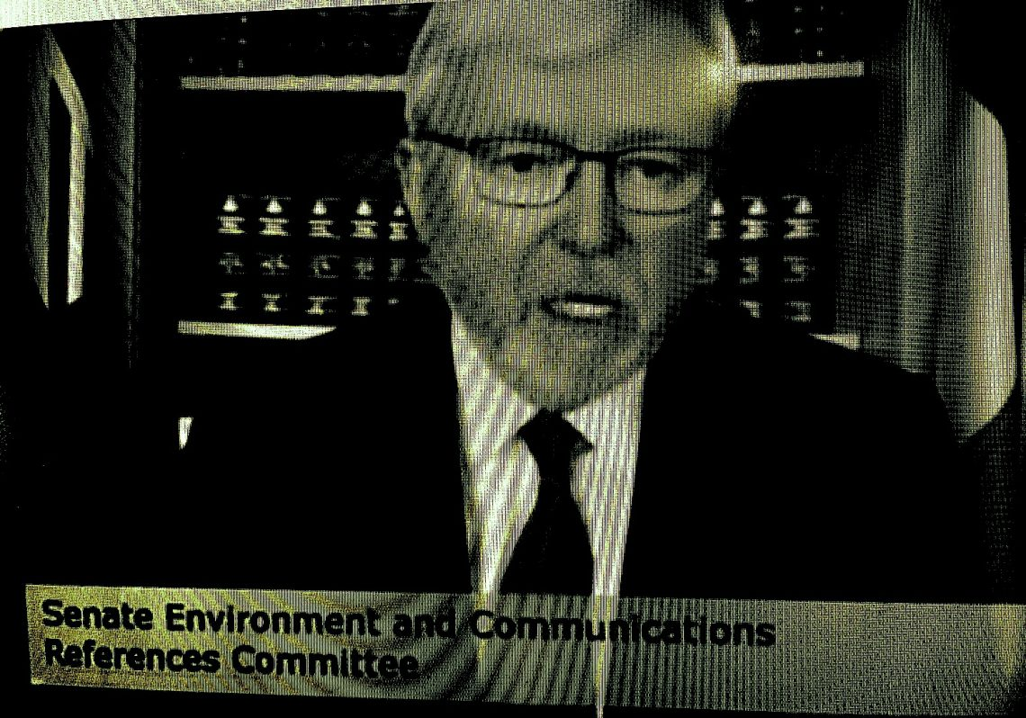 """Former PM Kevin Rudd alleges """"greenwashing"""" by News Corp. Digitally altered image."""